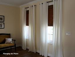 Merete Curtains Ikea Decor White Ikea Merete Curtains And Bamboo Shades Add A Light Airy