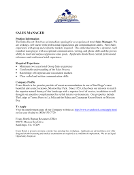 Cover Letter For Sales Manager Position by District Manager Retail Cover Letter