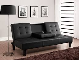 Modern Futon Sofa Bed Modern Futon Sofa Bed With Cup Holders And Black Color Ideas For