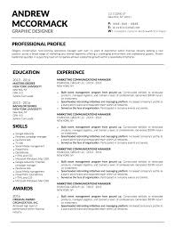 Event Resume Template 5 Job Winning Business Resume Templates To Help You Stand Out