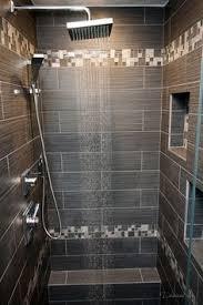 Bathroom Showers Tile Ideas Large Charcoal Black Pebble Tile Border Shower Accent Https Www
