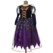 youth purple and orange witch costume collections holidays
