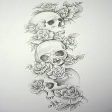 collection of 25 cowboy skull drawing