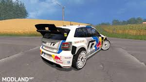 volkswagen polo 2016 red vw polo wrc red bull mod for farming simulator 2015 15 fs ls