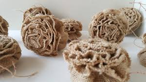 ruffled burlap ornaments home for