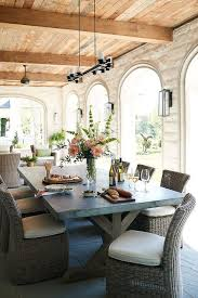 Outdoor Wood Ceiling Planks by Covered Outdoor Dining Space Design Transitional Deck Patio