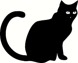 custom vinyl lettering black cat sitting vinyl decal the wall