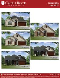 glenwood silver home plan by castlerock communities in stone creek