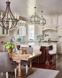 ivory cabinets with cherry kitchen island traditional kitchen