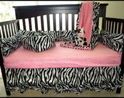 Pink Zebra Crib Bedding Zebra Crib Bedding Etsy