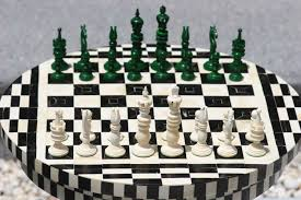 Chess Table Chess Sets From The Chess Piece Chess Set Store Camel Bone And