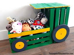 Wooden Toy Box Diy wood crate tractor toy box diy pinterest wood crates toy