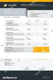Illustration Invoice Template Vector Invoice Form Template Design Vector Stock Vector 368504447