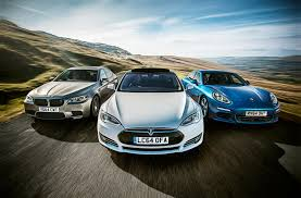compare lexus vs bmw tesla model s vs bmw m5 vs porsche panamera triple test review