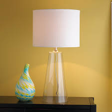 Glass Table Lamp Modern Tapered Clear Glass Table Lamp Shades Of Light