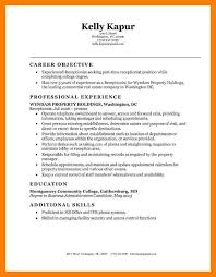 Resume Templates For Receptionist Position Resume Example For Receptionist Resume For Salon Receptionist