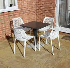 bistro table set for cafes balconies square table 4 white