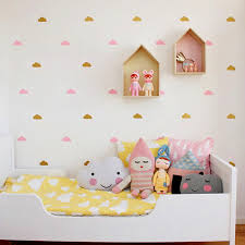 Nursery Decor Stickers Gold Cloud Wall Decal Stickers White Cloud Wall Decals Cloud