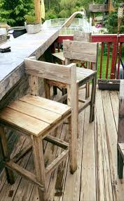 Outdoor Pallet Furniture Pallet Bar Stools Or Chairs 70 Pallet Ideas For Home Decor