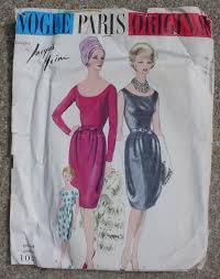 long in back short 60s in front vintage vogue paris original pattern 1047 designer jacques heim