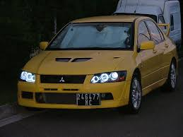 ricer lancer angel eyes evo7 evolutionm mitsubishi lancer and lancer