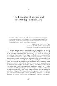 4 the principles of science and interpreting scientific data