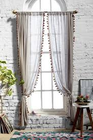 White Curtains With Pom Poms Decorating 21 Ways To Upgrade Your Bedroom Curtains
