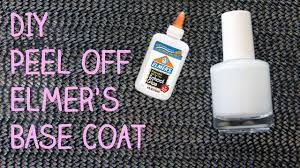 diy peel off elmer u0027s glue base coat for glitter nail polish