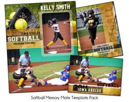 softball pack e memory mate sports photo templates digital