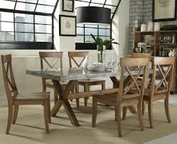 keaton 7 piece trestle table set by liberty furniture shore
