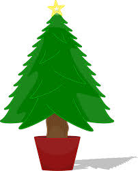 tree without ornaments clipart