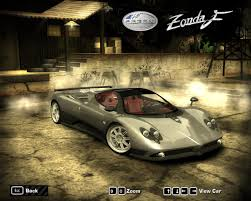 pagani zonda 2017 need for speed most wanted pagani zonda f 2006 nfscars