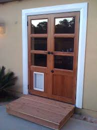 Patio Door With Pet Door Built In Ideas Patio Door With Door Built In Or In X In Medium White