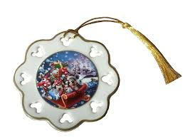 ornament happy holidays 2013 mickey snowflake