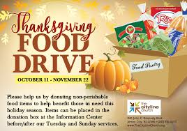 we are the cityline church thanksgiving food drive