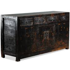 Oriental Sideboards Black Painted Sideboard Chinese Antique Cabinet Qinghai Province