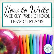 preschool lesson plan template for weekly planning preschool