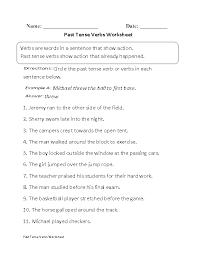 past tense verbs worksheet part 1 beginner verbs worksheets
