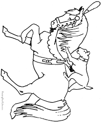 free printable horses coloring pages 019