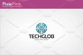 tech globe logo template logo templates creative market