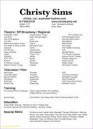 musical theatre resume exles 2 musical theatrical resume template fungram co