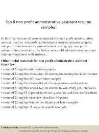 sample resume of executive assistant best ideas of non profit administrative assistant sample resume in brilliant ideas of non profit administrative assistant sample resume on job summary