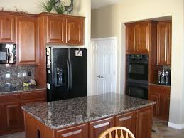 kitchen designs with white cabinets and black appliances for