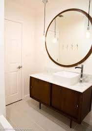 bathroom comfortable mid century bathroom with dark brown wood