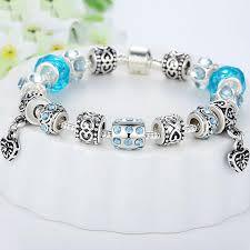 murano glass beads bracelet silver images Silver crystal bracelet with blue murano glass beads the jpg