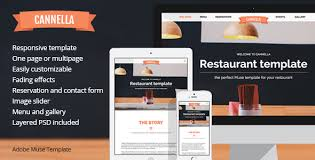 cannella restaurant cafe responsive muse template by muvolab