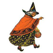 decorations retro 70s halloween vintage decor alongside witch