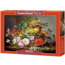flowers and fruit with flowers and fruit basket castorland puzzle 2000 pc
