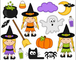 cute halloween ghost clipart image cute witch clip art etsy