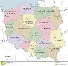 Map Poland Blue Map Of Poland With Voivodeships Royalty Free Stock Photo
